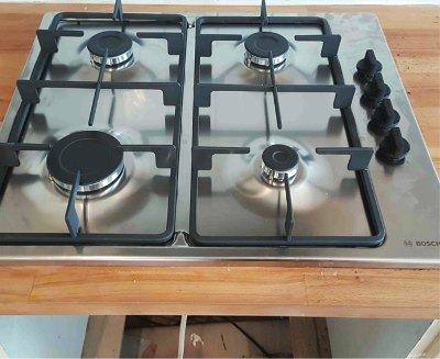A repaired gas hob